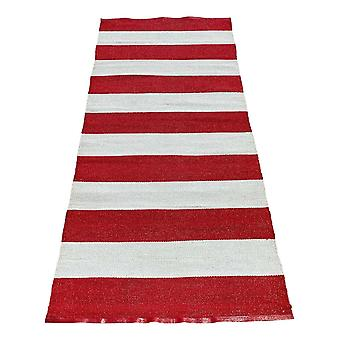 Spura Home Reversible Striped Contemporary 2.6x6 Runner Rug for Hallway