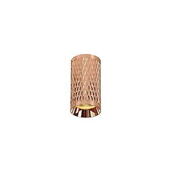 Oświetlenie Luminosa - 11cm Surface Mounted Ceiling Light, 1 x GU10, Różowe Złoto