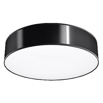 Sollux ARENA - 3 Licht Flush Round Plafond Licht Zwart, E27