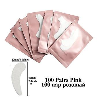 100pairs Eyelash Extension Paper Patch - Grafted Eye Stickers Under Eye Pads