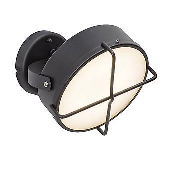 Luz BRILLANTE Nyx LED Lámpara de pared al aire libre antracita 1x 10W LED integrado, (1000lm, 3000K) Escalar A++ a E ? Tipo de protección IP: