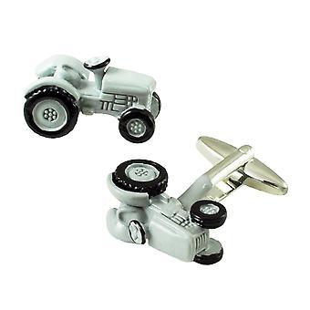 Ties Planet Grey Tractor Novelty Cufflinks