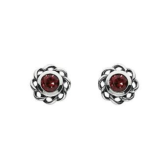 Heritage Mystic Birthstones January Twist Pendientes 3234JAN024