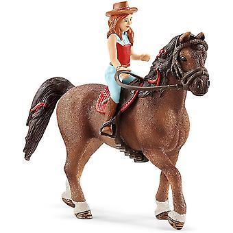 Schleich 42514 Hannah & Cayenne Horse Club Figure