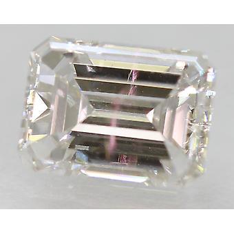 Zertifiziert 1.13 Carat E VVS2 Smaragd Enhanced Natural Diamond 7.21x5.23mm 2EX