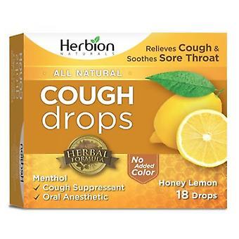 Herbion Naturals Cough Drops, Natural Honey Lemon 18 Count