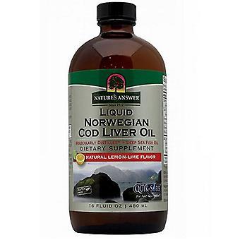 Nature's Answer Cod Liver Oil, Lemon 16 oz