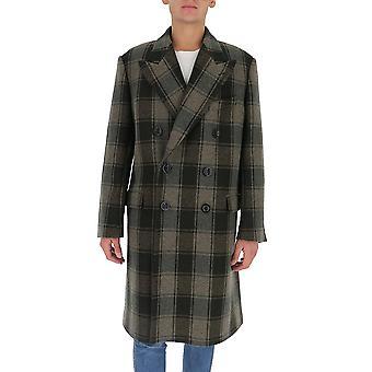 Dries Van Noten 202091132606 Men's Multicolor Wool Coat