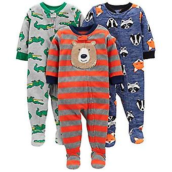 Simple Joys by Carter's Baby and Toddler Boys' 3-Pack Loose Fit Fleece Footed...