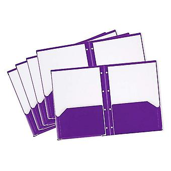 Rexel A4 Advance Stay Put Pocket and Prong Folder - Purple (Pack of 5)