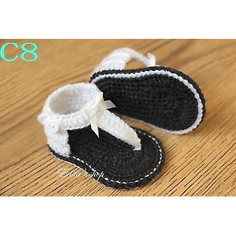 Crochet Baby Flip Flop Baby Summer Sandals With Little Puff Flowers