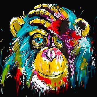 Diamond Embroidery Cross Stitch Monkey Painting - Home Decoration