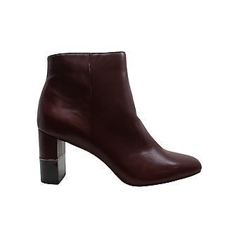 Alfani Women's Shoes Walliss Leather Closed Toe Ankle Fashion Boots