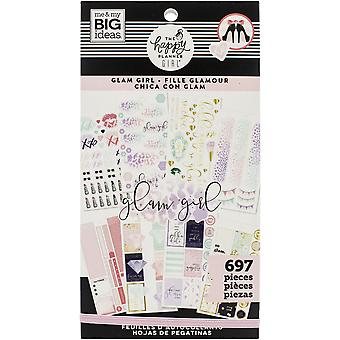 Happy Planner Sticker Value Pack-Glam Girl, 697/Pkg