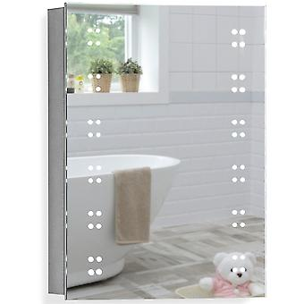 LED Bathroom Mirror Cabinet 70(H) x 50cm(W) x 15cm(D) C16