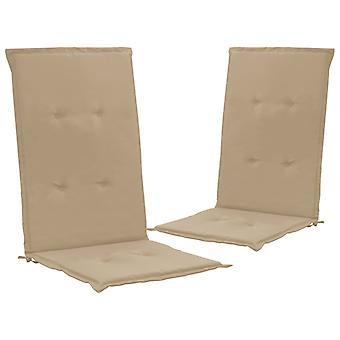 vidaXL krzesło ogrodowe wydanie 2 szt. beżowy 120 x 50 x 3 cm