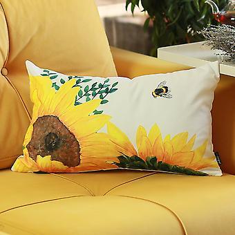 Sunflowers Lumbar Throw Pillow Cover-set Of 2