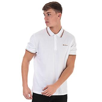 Men's Ben Sherman Twin Tipped Polo Shirt in weiß