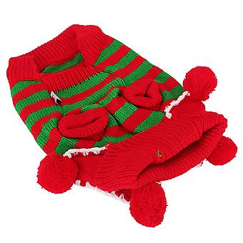 Christmas Xmas Dog Pet Knit Sweater Warm Woolen Yarn Pullover