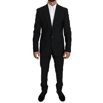 Black single breasted 2 piece martini suit