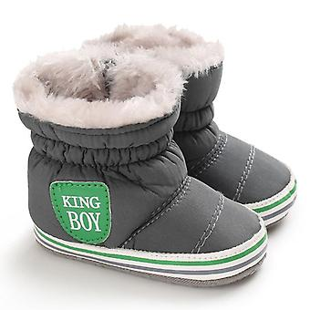 Girl & Snow Shoes, Winter Newborn Boots