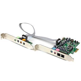Startech.com 7.1 channel sound card - pci express - 24-bit - 192khz - spdif digital optical and 3.5m