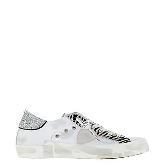 Philippe Modelo Prldvgz1 Mujer's Zapatillas de Cuero Blanco
