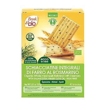 Wholemeal spelled Schiacciatine with rosemary 4 units
