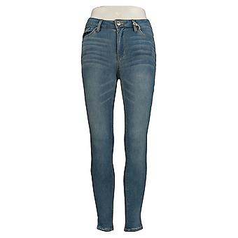 Almost Famous Women & s Jr Jeans Juniors Mid Rise Skinny Leg Bleu