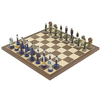 The Air Force Vs Marines Hand painted themed Chess set by Italfama