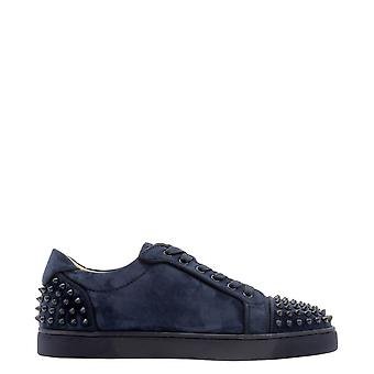 Christian Louboutin 3190797v101 Men's Blue Suede Sneakers