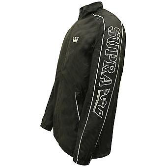 Supra Mens Wired Jacket Zip Up Wind Breaker Black 102082 008 A38E