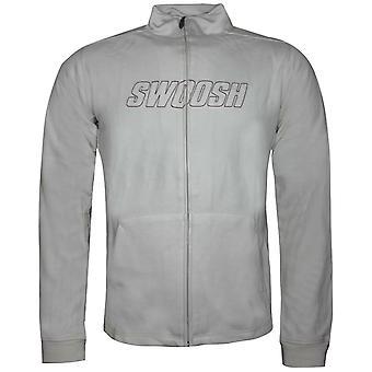 Nike Mens Swoosh Zip Up Moletom Cardigan Cinza 187686 072 M