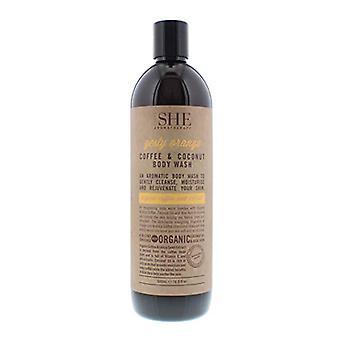 Om She Aromatherapy Zesty Orange Coffee & Coconut Body Wash 500ml