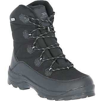 Trespass Mens Zotos Fleece Lined Warm Winter Walking Snow Boots - Black