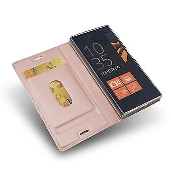 Sony Xperia XZ1 Compact Folio Case met Slot - Roségoud