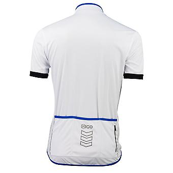 EIGO Classic Mens Short Sleeve Cycling Jersey White / Blue