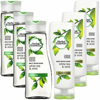 Herbal Essences Duo Detox Shine Shampoo And Conditioner 400ml Pack Of 3