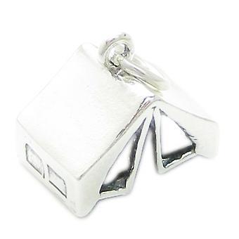 Tenda Sterling Silver Charm .925 X 1 Tendas Camping Adventure Charms - 3694