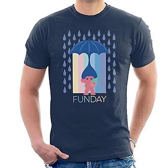 Trolls Fun Day Raining Umbrella Hair Men's T-Shirt