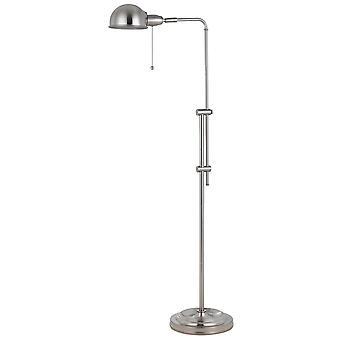 Lámpara de farmacia de metal de altura ajustable con interruptor de cadena de tracción, plata