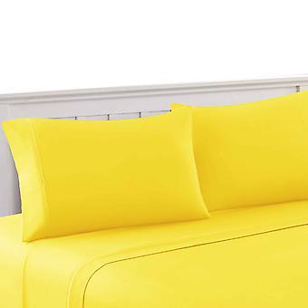 Bezons 4 Stück voller Größe Mikrofaser-Blatt-Set der urbane Hafen, gelb