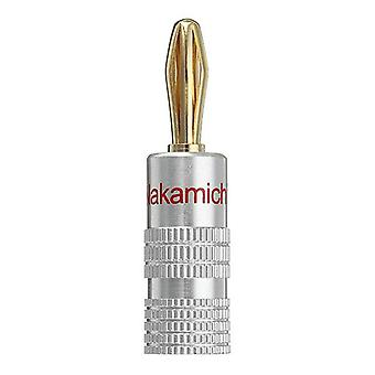 Nakamichi 4mm Banana Plug For Video 24K Gold Plated Speaker Copper Adapter Audio Connector FLM