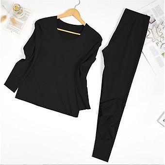Θερμικό εσώρουχο κοστούμι διπλά στρώματα θηλυκές πιτζάμες που θερμό μακρύ Johns