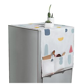 Colorful Geometric Floral Refrigerator Cover Cloth Dust Cover