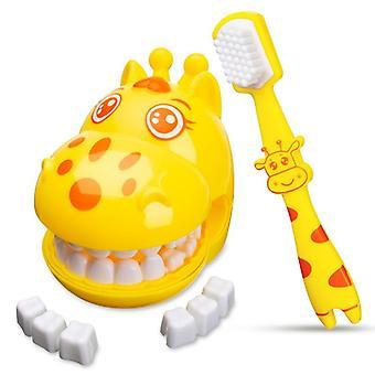 Cute Giraffe Modeling Dental Doctor