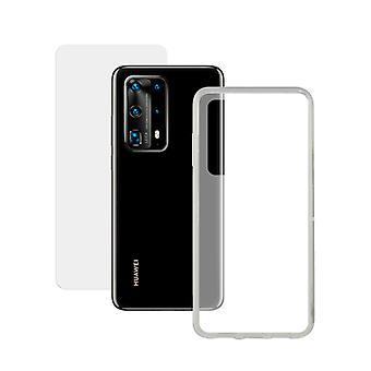Protecteur d'écran mobile en verre trempé + étui mobile Huawei P40 Contact 9H Transparent