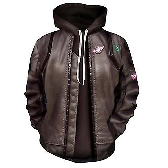 Game Movie New Cyberpunk 2077 3d Jacket Zipper Cardigan Cosplay Anime Peripheral