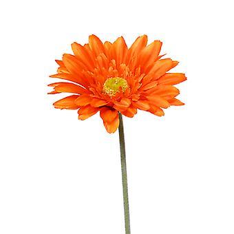 Kunst gerbera stengel bloem 60 cm oranje