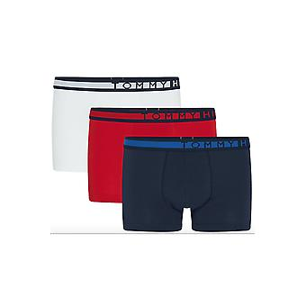 Tommy Jeans Stretch Trunk 3-Pack (Navy Blazer/Tango Red/White)